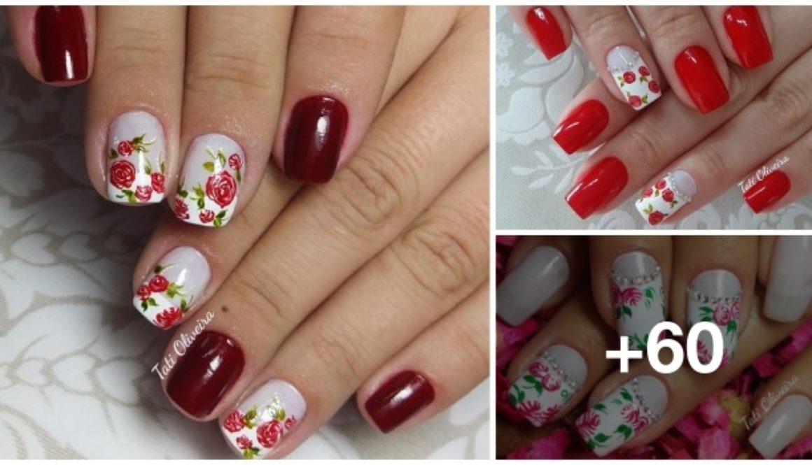 Unhas-com-Desenhos-de-Rosas