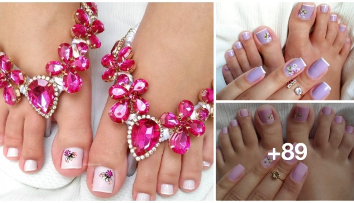 89 Fotos de Unhas dos pés com flores
