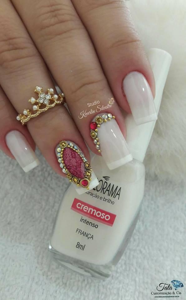 As 99 melhores unhas francesinhas decoradas por manicures