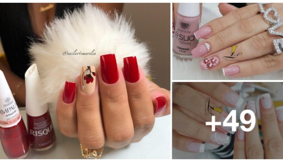 Melhores unhas com flores decoradas por manicures do Brasil cover fotos