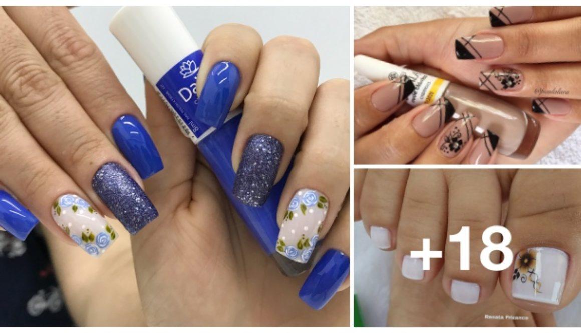 Decorações de unhas com as melhores combinações de esmaltes, veja