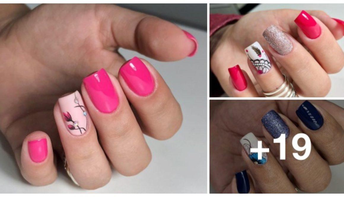 Modelos de unhas decoradas com pincel 1.2
