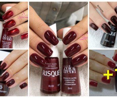 Combinações de esmaltes vermelhos900